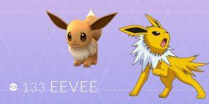 Eevee Evolutions in Pokemon Go