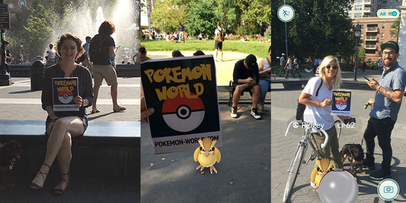 pokemon go meetup washington square park