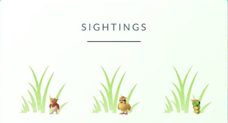 pokemon go sightings explained