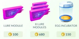 pokemon go item shop list and prices