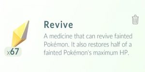 what is a revive in pokemon go